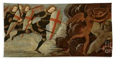 St. Michael And The Angels At War With The Devil Bath Towel