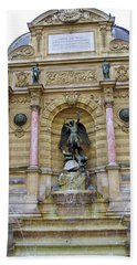 St. Michael's Fountain Bath Towel