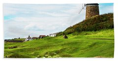 St Monans Windmill Hand Towel by MaryJane Armstrong