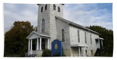 Bath Towel featuring the photograph St Nicholas Church Saint Clair Pennsylvania by David Dehner