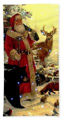 St Nick  And Friends Hand Towel by Judyann Matthews