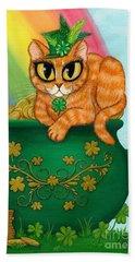 St. Paddy's Day Cat - Orange Tabby Hand Towel