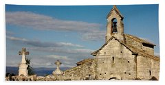 St. Pantaleon Church,  Luberon, France Bath Towel