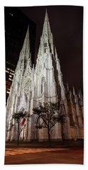 St Patrick Cathedral At Night Hand Towel