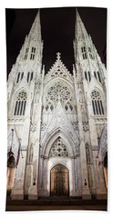 St Patrick Cathedral Nyc Morning  Bath Towel
