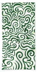 St Patrick's Day Abstract Hand Towel