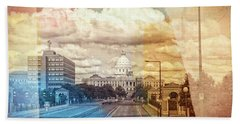 Bath Towel featuring the photograph St. Paul Capital Building by Susan Stone