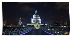 St Paul's Cathedral And The Millennium Bridge Hand Towel