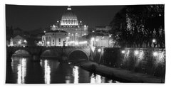 St. Peters At Night Bath Towel