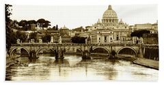Bath Towel featuring the photograph St. Peters Basilica by Mircea Costina Photography