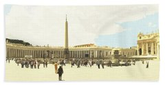 St. Peter's Square The Vatican Hand Towel