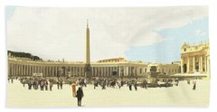 St. Peter's Square The Vatican Bath Towel
