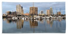 St Petersburg Marina Bath Towel