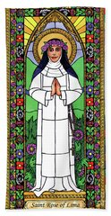 St. Rose Of Lima Hand Towel