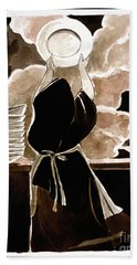 St. Therese Doing The Dishes - Mmdtd Bath Towel