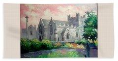 St Trinity Abbey Adare County Limerick Ireland Bath Towel