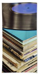 Stack Of Records Bath Towel