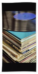 Stack Of Records Hand Towel