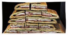 Stack Of Sandwiches Valencia Spain Bath Towel