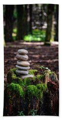 Bath Towel featuring the photograph Stacked Stones And Fairy Tales IIi by Marco Oliveira