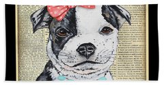 Staffordshire Terrier-jp3857 Hand Towel