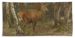 Stag On The Watch Bath Towel