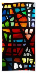 Hand Towel featuring the photograph Stained Glass 2 by Michael Canning