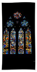 Hand Towel featuring the photograph Stained Glass France by Tom Prendergast
