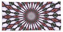 Stained Glass Kaleidoscope 2 Bath Towel by Rose Santuci-Sofranko