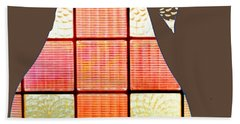 Stained Glass Pear Hand Towel