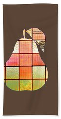 Stained Glass Pear Bath Towel