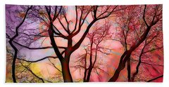Stained Glass Sunrise 2 Hand Towel