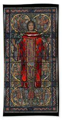Stained Glass Window 1928 - Remastered Bath Towel