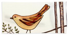 Stained Glass Wings Bath Towel