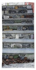 Bath Towel featuring the photograph Stairs To The Plague House by RC DeWinter