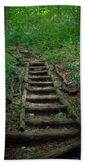 Stairway At Unicoi Gap On The At Hand Towel