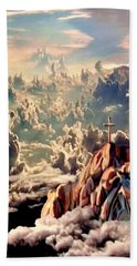 Stairway To Heaven Hand Towel by Ron Chambers