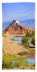 Bath Towel featuring the photograph Stakna Monastery by Alexey Stiop