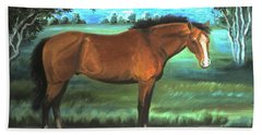 Stallion Portrait Hand Towel