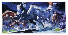 Stampede By Moonlight Hand Towel