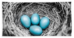 Eggs Photographs Bath Towels