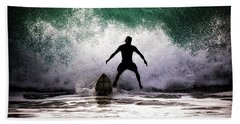 Hand Towel featuring the photograph Standby Surfer by Jim Albritton