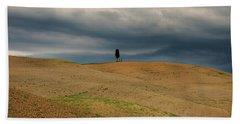 Standing Alone I Hand Towel by Yuri Santin
