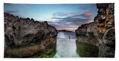 Hand Towel featuring the photograph Standing At The Tip Of Sea by Pradeep Raja Prints