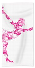 Yoga Pose Asana Standing Bow Pose Bath Towel