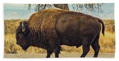 Standing Buffalo Hand Towel by Steven Parker