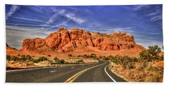 Standing In The Road Grand Canyon Butte Page Arizona Art Bath Towel