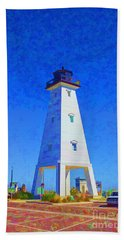 Standing Proud Lighthouse Hand Towel