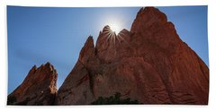 Standstone Sunburst - Garden Of The Gods Colorado Hand Towel