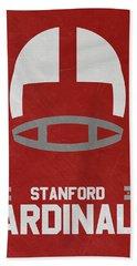 Stanford Cardinals Vintage Football Art Hand Towel